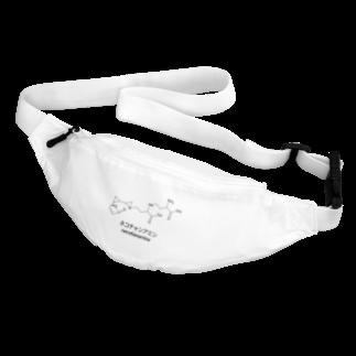 粉平のネコチャンアミン(白背景) Body Bag