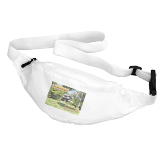 FUCHSGOLDの日本の城:土浦城 Japanese castle: Tsuchiura castle★Recommend for white base products only !!  Waist Pouch