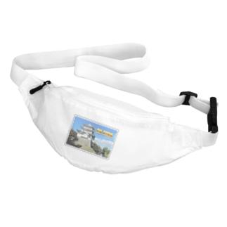 日本の城:忍城★白地の製品だけご利用ください!! Japanese castle: Oshi Castle/ Gyoda★Recommend for white base products only !! Belt Bag