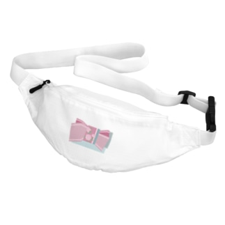 帯柄 水色×ピンク Belt Bag