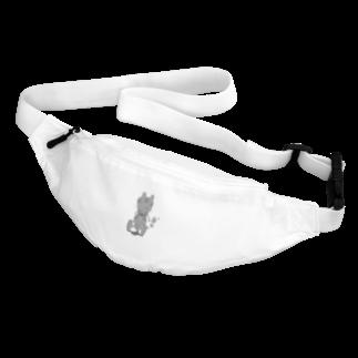 ★ 藤崎幾何 ★ illustrationのかわいいウサギさんマシン イラスト Belt Bag
