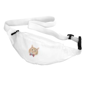 茶色いフワフワ猫 Belt Bag
