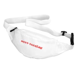 ダンベルダンベルのKEEP PUSHING!-red Belt Bag