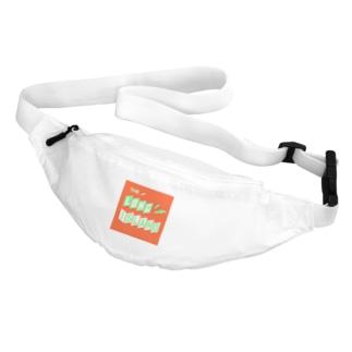 平行四辺形デザイン グリーン×ホワイト×オレンジ Belt Bag