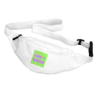 平行四辺形デザイン パープル×ピンク×グリーン Belt Bag
