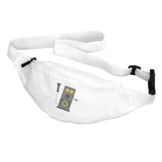 レトロな片耳受話器の片耳受話器の壁掛け電話(デルビル磁石式電話機)のイラスト  黒 受話器外しver Belt Bag