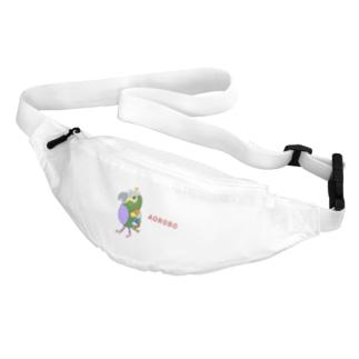 ねこぜや のROBOBO アオボウシインコ Belt Bag