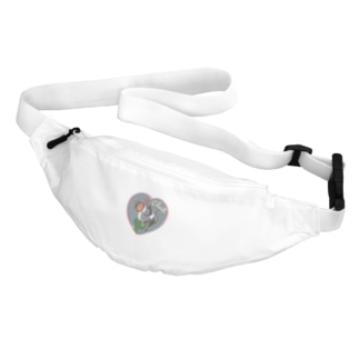 猫キッス グレー Belt Bag
