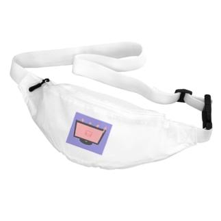 アキクサインコとテレビ色付き Belt Bag