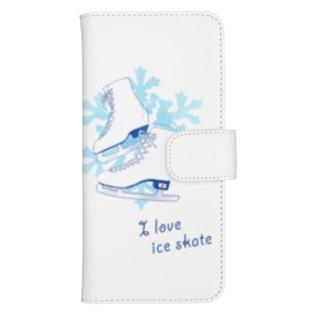 I  love  ice skate...♡ ウォレットフォンケース