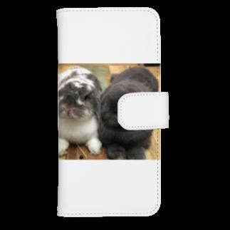 うさかふぇmimiSHOPのサスケとゴマウォレットフォンケース