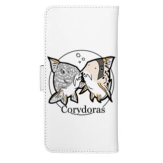 The Cute Corydoras ウォレットフォンケース