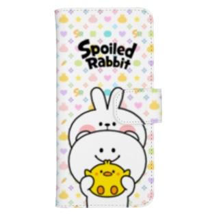 Spoiled Rabbit - pattern / あまえんぼうさちゃん - パターン ウォレットフォンケース