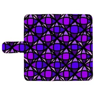 purple ウォレットフォンケース