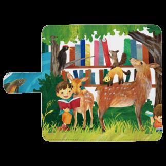 gomaphの小鹿と男の子 ウォレットフォンケース