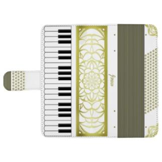 Retro Accordion レトロアコーディオン 鍵盤式 ウォレットフォンケース