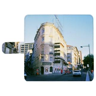 ポルトガル:リシュボアの裏通り View of Lisboa (Lisbon)/Portugal ウォレットフォンケース