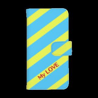 さやめストアのMy LOVEウォレットフォンケース
