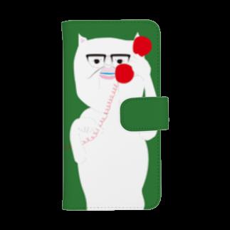cosajisalutのもしもし緑ウォレットフォンケース