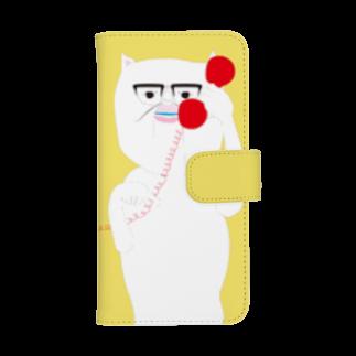 cosajisalutのもしもし黄色ウォレットフォンケース