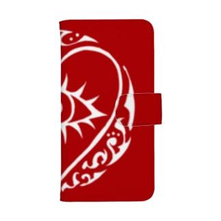 HS(レッド×ホワイト) ウォレットフォンケース