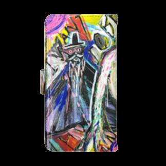 DoiMayumiのPOP ART(博士とBOUNINGEN)ウォレットフォンケース