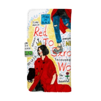 red to strong women ウォレットフォンケース