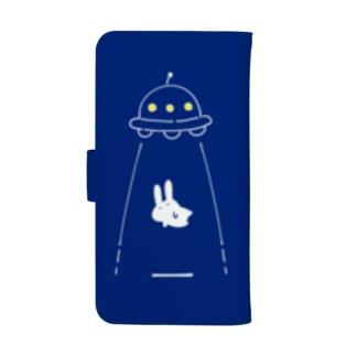 UFOにつれてかれるうさぎ ウォレットフォンケース