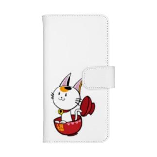 幸運の♂三毛猫 ウォレットフォンケース