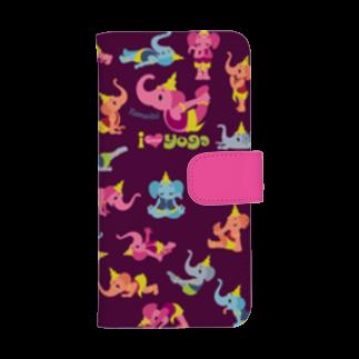 FOXY COLORSのヨガ スマホケース YOGA ガネゾー violetウォレットフォンケース