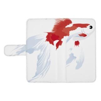 金魚すくい2016夏(和柄) ウォレットフォンケース