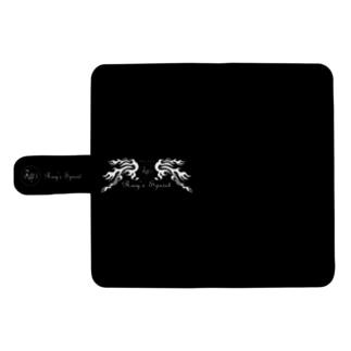 Ray's Spirit Logo ③(WHITE) ウォレットフォンケース