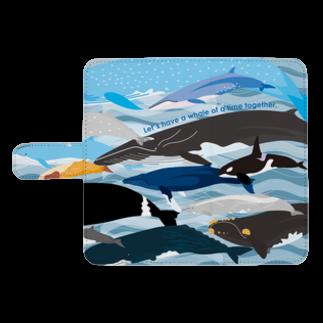 クジラのマグカップ屋さん。プラスのホエールパラダイスウォレットフォンケース