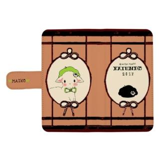 【売り切れ】【再販】【名前入り】開運堂の大正ロマンケース(手帳型)【ポケット3個付き】 ウォレットフォンケース