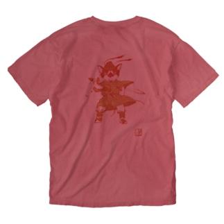 千坊鐘馗さま.前後バージョン Washed T-shirts