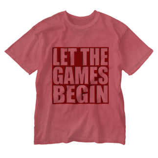 キューカンバー・ガールのLet the games begin. Washed T-shirts
