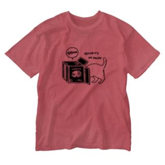 cat camera Washed T-shirts