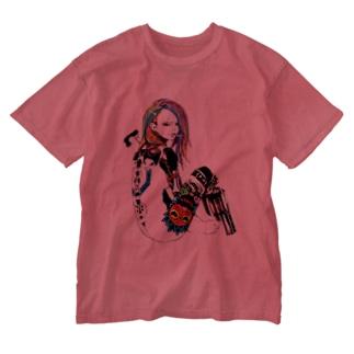 マグナムガール Washed T-shirts