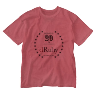 dRuby20周年 01 Washed T-shirts