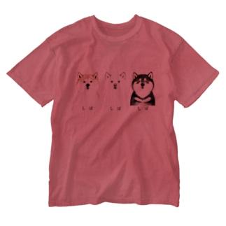 しば しば しば ウォッシュTシャツ Washed T-shirts