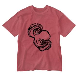 たこななめ Washed T-shirts