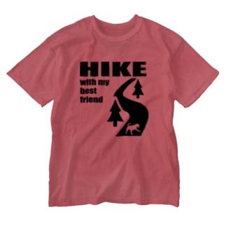 HIKE黒 Washed T-shirts