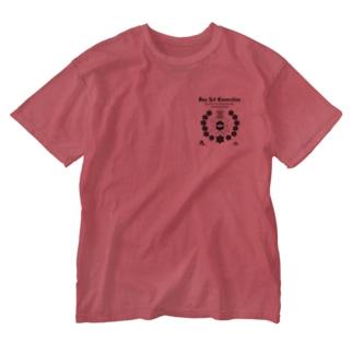 黒柄 Washed T-shirts