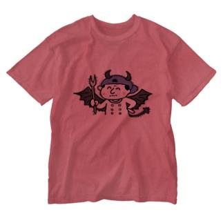悪魔のシェフ Washed T-shirts