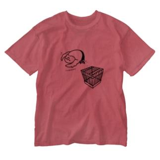 小屋上からのラ ケブラーダ Washed T-shirts