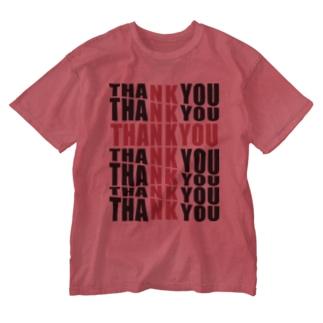 thank you クロスウォッシュTシャツ( ・∀・)つ Washed T-shirts
