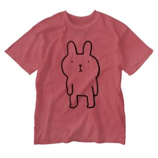 ふつウサ直立 Washed T-shirts