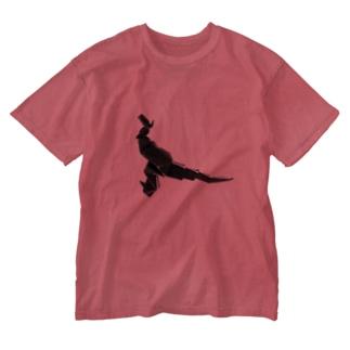 インウェブアウトオンラインストアのりしゆな:恐竜 by はせりょう Washed T-shirts