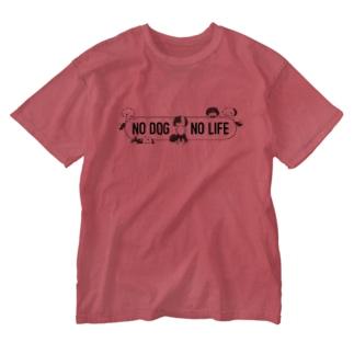 配色いろいろボーダーコリーMIX Washed T-shirts