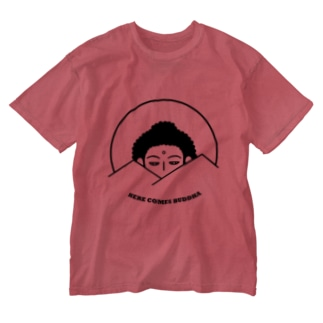Here Comes Buddha Washed T-shirts